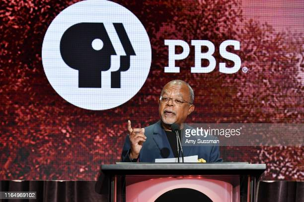 Dr Henry Louis Gates of Finding Your Roots speak during the PBS segment of the Summer 2019 Television Critics Association Press Tour 2019 at The...
