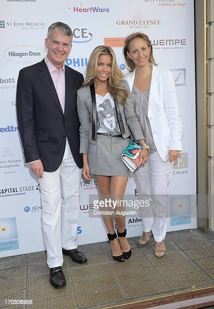 Dr Hermann Reichenspurner Sylvie van der Vaart and Jonica JahrGoedhart attend charity event Das kleine Herz im Zentrum at St Pauli Theater on June 10...