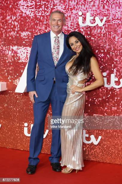 Dr Hilary Jones and Dee Thresher arrive at the ITV Gala held at the London Palladium on November 9 2017 in London England