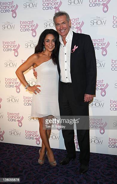 Dr Hilary Jones and Dee Thresher arrive for the afternoon Breast Cancer Care's London fashion show at the Grosvenor House Hotel on October 5 2011 in...