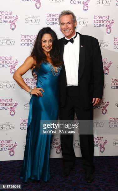 Dr Hilary Jones and Dee Thresher arriving at the Breast Cancer Care fashion show at the Grosvenor Hotel in London