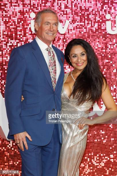 Dr Hilary Jones and Dee Thresher arriving at the ITV Gala held at the London Palladium on November 9, 2017 in London, England.