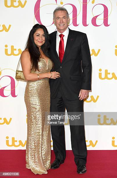 Dr Hilary Jones and Dee Thresher attend the ITV Gala at London Palladium on November 19, 2015 in London, England.