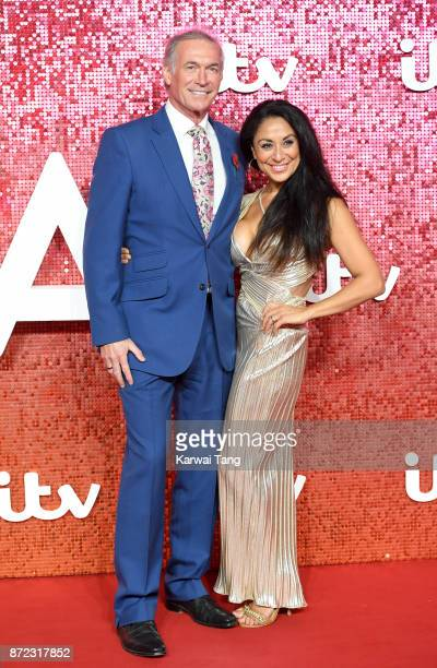 Dr Hilary Jones and Dee Thresher attend the ITV Gala at the London Palladium on November 9 2017 in London England