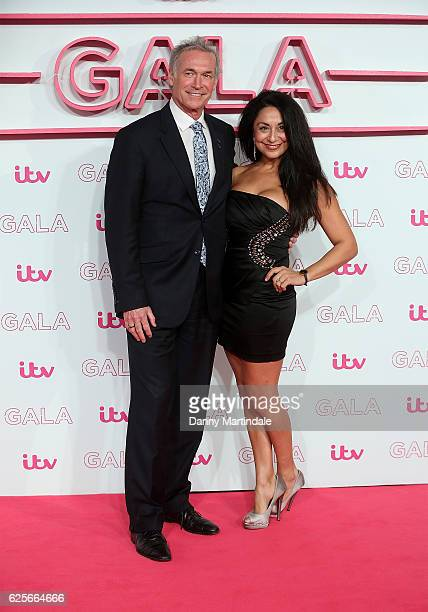 Dr Hilary Jones and friend attends the ITV Gala at London Palladium on November 24 2016 in London England