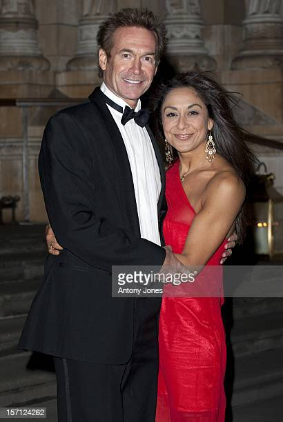 Dr Hilary Jones And Guest Arrive At The Chain Of Hope Ball 2010 At The Natural History Museum London