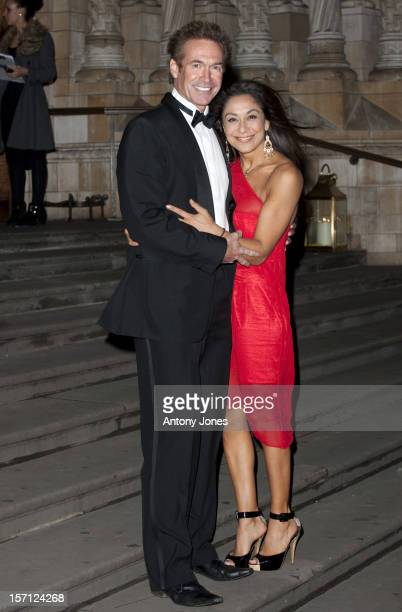 Dr Hilary Jones And Guest Arrive At The Chain Of Hope Ball 2010 At The Natural History Museum, London..