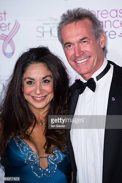 Dr Hilary Jones and guest attend the Breast Cancer Care Fashion Show to kick off Breast Cancer Awareness Month at the Grosvenor House hotel, on...