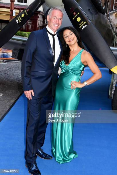 Dr Hilary Jones and guest attend the World Premiere of Spitfire at The Curzon Mayfair on July 9 2018 in London England