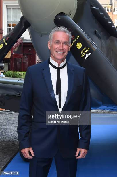 """Dr Hilary Jones attends the World Premiere of """"Spitfire"""" at The Curzon Mayfair on July 9, 2018 in London, England."""