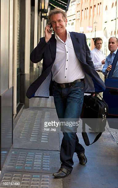 Dr Hilary Jones sighting at the Ivy Restaurant on July 9, 2010 in London, England.