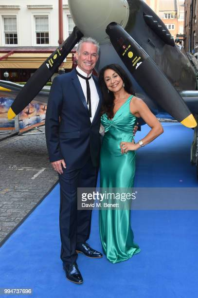 "Dr Hilary Jones with guest attend the World Premiere of ""Spitfire"" at The Curzon Mayfair on July 9, 2018 in London, England."