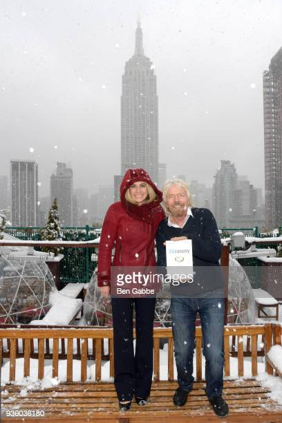 Dr Holly Branson and Sir Richard Branson at the 'WEconomy' book launch on March 21 2018 in New York City