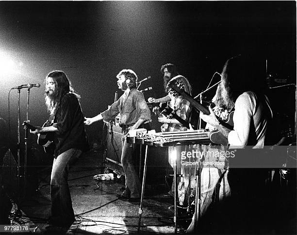 Dr Hook And The Medicine Show perform live in Amsterdam in October 1973 LR Dennis Lecorriere Ray Sawyer Billy Francis Rik Elswit Jance Garfat George...