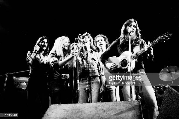 Dr Hook And The Medicine Show perform live in Amsterdam in October 1973 LR Billy Francis Rik Elswit Jance Garfat Ray Sawyer John Wolters Dennis...