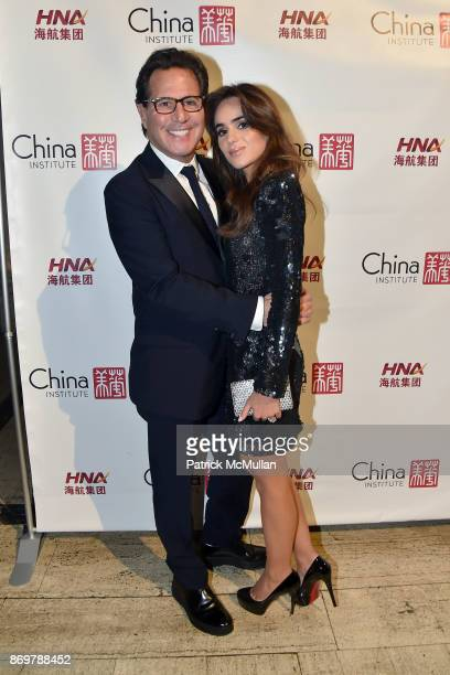 Dr Howard Sobel and Brittney Herskowitz attend China Institute 2017 Blue Cloud Gala at Cipriani 25 Broadway on November 2 2017 in New York City