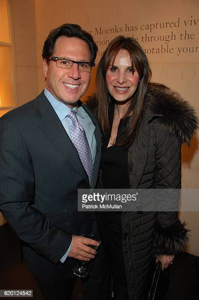 Dr Howard Sobel and Gayle Sobel attend INHERITING BEAUTY by ROGER MOENKS cocktail celebration hosted by ROBERTA ARMANI at Giorgio Armani NYC on...