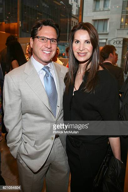 Dr Howard Sobel and Gayle Sobel attend TOD's celebrates Melanie Charlton Fascitelli Shop Your Closet at Tod's on May 14 2008 in New York City