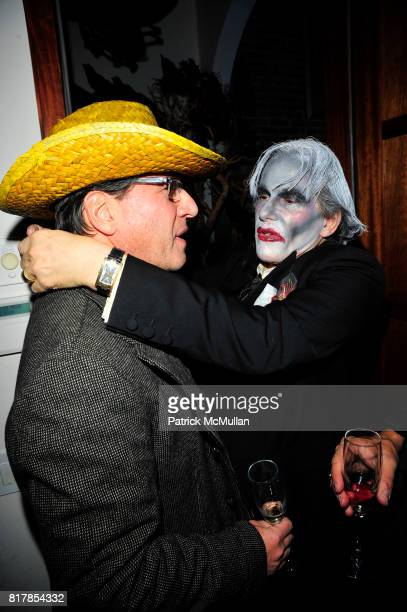 Dr Howard Sobel and R Couri Hay attend R COURI HAY hosts a Vampire Halloween Party at R Couri Hay Residence on October 31 2010 in New York City