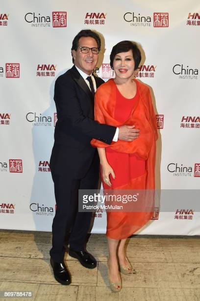 Dr Howard Sobel and YueSai Kan attend China Institute 2017 Blue Cloud Gala at Cipriani 25 Broadway on November 2 2017 in New York City