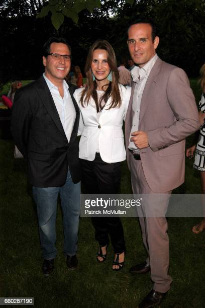 Dr Howard Sobel Dayle Sobel and Dr Paul Frank attend PHOENIX HOUSE Honors HALEY JASON BINN at Private Residence on June 27 2009 in East Hampton New...