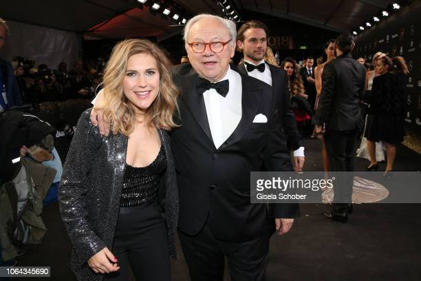 Dr Hubert Burda and his daughter Elisabeth Burda during the Bambi Awards 2018 Arrivals at Stage Theater on November 16 2018 in Berlin Germany