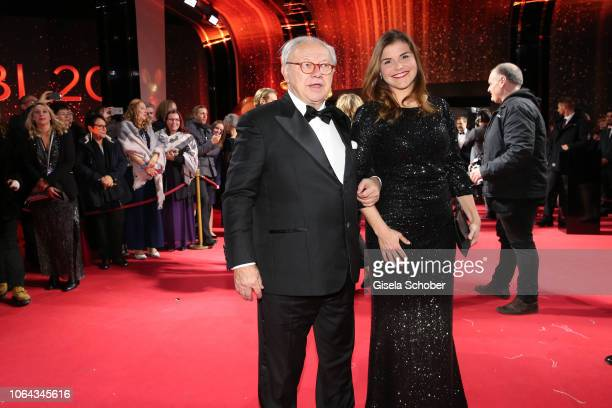 Dr Hubert Burda and Katharina Wackernagel during the Bambi Awards 2018 Arrivals at Stage Theater on November 16 2018 in Berlin Germany