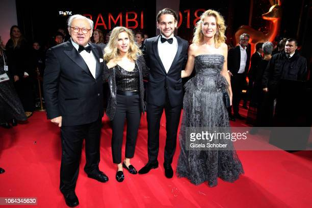 Dr Hubert Burda Elisabeth Burda Jakob Burda Maria Furtwaengler during the Bambi Awards 2018 Arrivals at Stage Theater on November 16 2018 in Berlin...