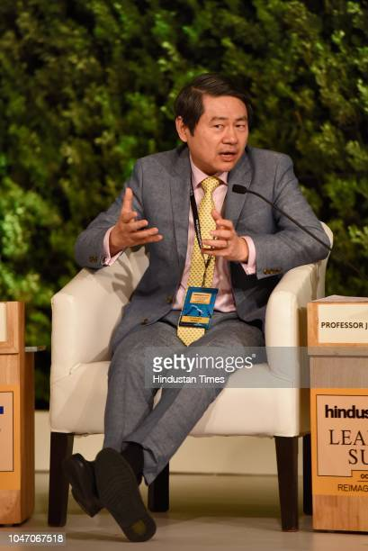 Dr Huiyao Wang Founder and President Centre For China and Globalization during a second day of Hindustan Times Leadership Summit 2018 at Taj Palace...