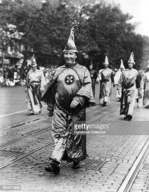 Dr. H.W. Evans, Imperial Wizard of the Ku Klux Klan, leading his Knights of the Klan in the parade held on September 13, 1926 in Washington, D.C.