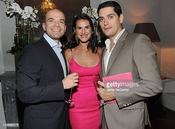 Dr Iannis Aifantis Annabella Murphy and Dr Dimitri Skokos attend The Angel Ball Launch Party at Private Residence on September 13 2011 in New York...