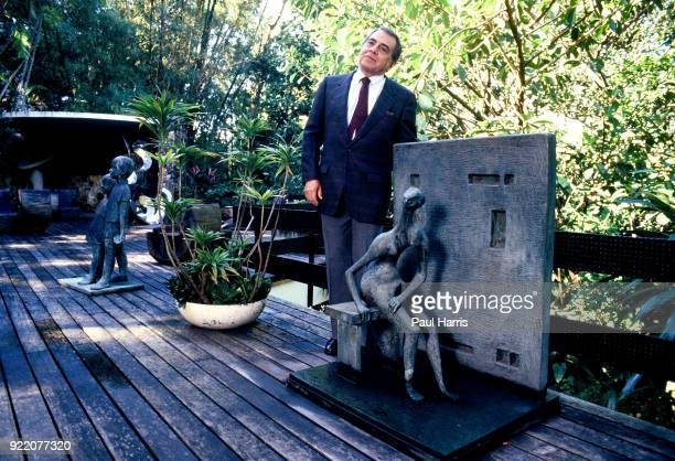 Dr Ivo Pitanguy in his garden with some of his Henry Moore sculptures he was also the most famous plastic surgeon in the World a pioneering Brazilian...
