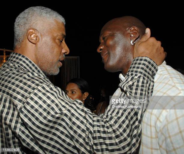 Dr J and Michael Jordan *Exclusive Coverage*