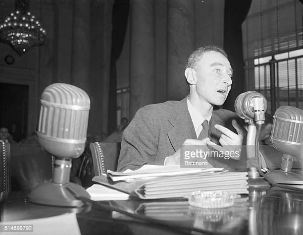 Dr J Robert Oppenheimer key scientist in the development of the atomic bomb told the Joint Congressional Atomic Energy Committee today that he knows...