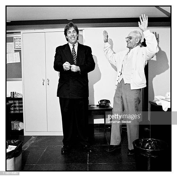 Dr Jack Kevorkian and Geoffrey Fieger are photographed for Vanity Fair Magazine on April 1224 1994 in Detroit Michigan Published image