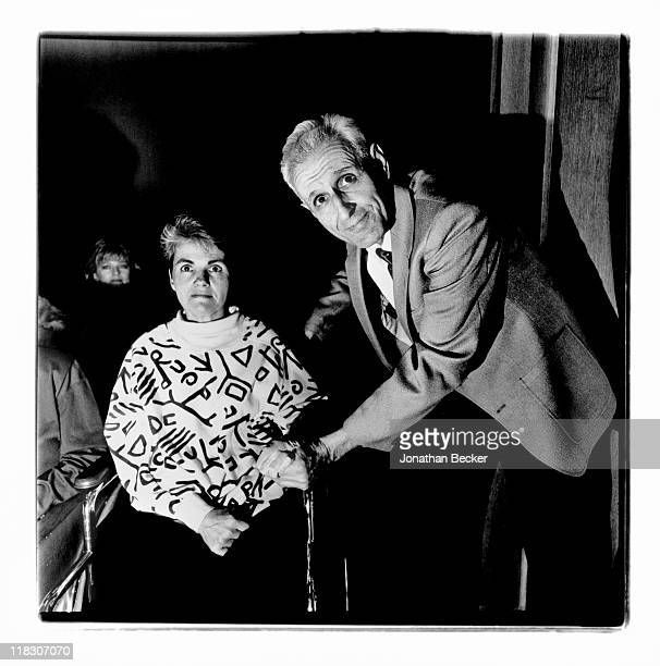 Dr Jack Kevorkian and patient Sherry Miller are photographed for Vanity Fair Magazine on January 8 1991 in Detroit Michigan Published image