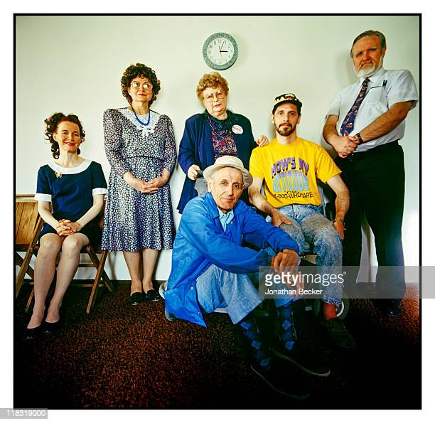 Dr Jack Kevorkian is photographed with supporters for Vanity Fair Magazine on April 1224 1994 in Detroit Michigan