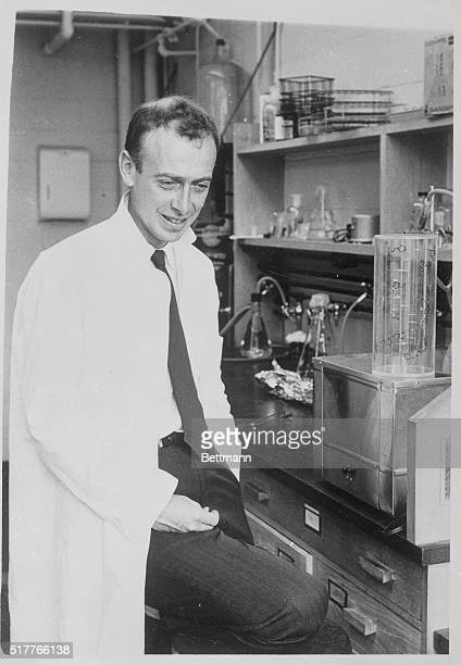 Dr James Deuer Watson the famous biologist is shown here in his lab