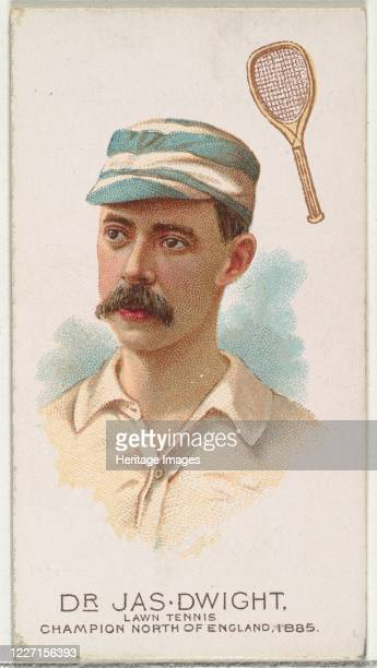 Dr James Dwight Lawn Tennis Champion North of England 1885 from World's Champions Series 2 for Allen Ginter Cigarettes 1888 Artist Allen Ginter