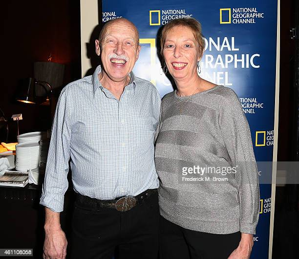 Dr Jan Pol and his wife Diane Pol attend the National Geographic Channel Welcome Reception during the 2015 Winter Television Critics Association...