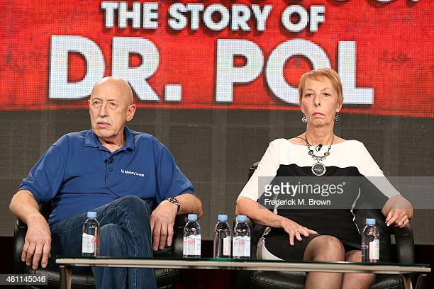 Dr Jan Pol and his wife Diane speak onstage during the Nat Geo WILD's 'Incredible The Story of Dr Pol' as part of the 2015 Winter Television Critics...