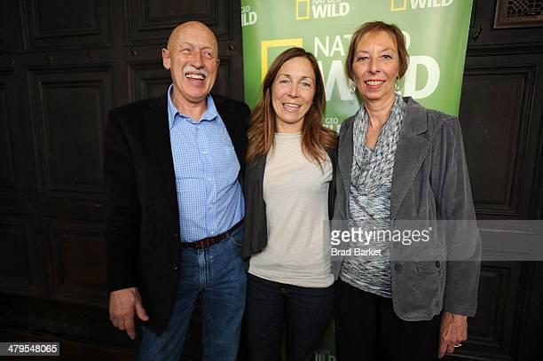 Dr Jan Pol of The Incredible Dr Pol Michelle Oakley of Dr Oakley Yukun Vet and Diane Pol attend the National Geographic Channel Nat Geo WILD 20142015...