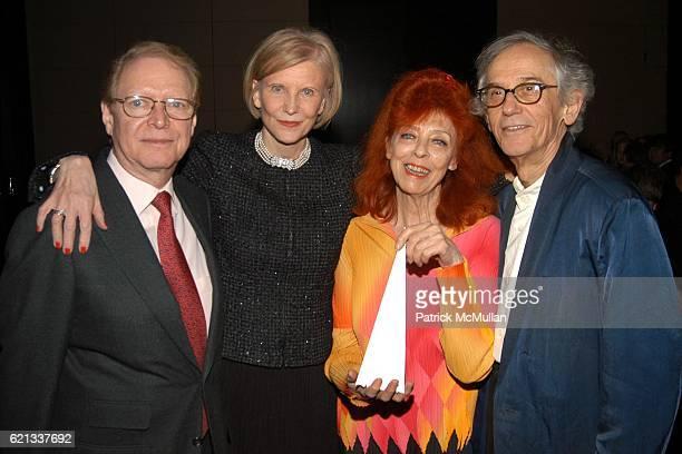 Dr. Jan Vilcek, Marica Vilcek, Jeanne-Claude and Christo attend In Memoriam: Jeanne-Claude Denat de Guillebon 1935 ñ 2009 at Steven Kasher Gallery on...