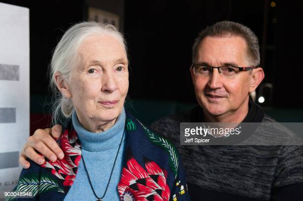 Dr Jane Goodall and her son 'Grub' attend a special screening of BAFTA nominated National Geographic documentary 'Jane' in her hometown at Odeon...