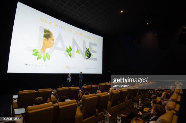 Dr Jane Goodall introduces a special screening of BAFTA nominated National Geographic documentary 'Jane' in her hometown at Odeon Bournemouth on...