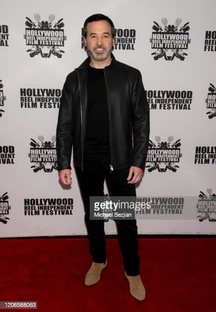 Dr Jason Champagne arrives at A Dark Foe Film Premiere on February 15 2020 in Los Angeles California