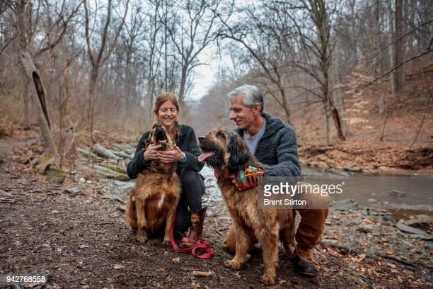 Dr Jean Bennett Molecular Geneticist and her husband Professor of Ophthalmology Dr Albert Maguire are seen with their dogs Mercury and Venus in the...
