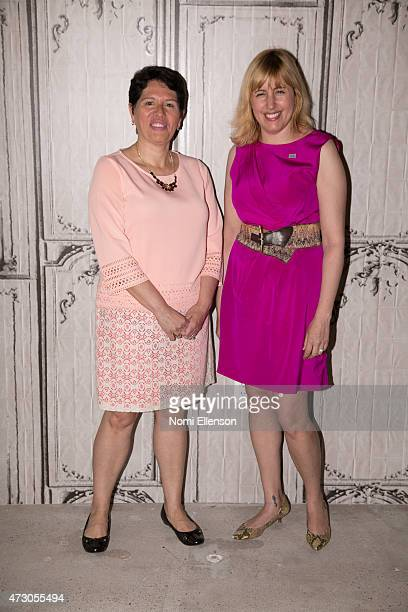 Dr Jeanette Betancourt and Rachel Tischlerat attend AOL Build Speaker Series Sesame Street's Grover And The USO Dr Jeanette Betancourt And Rachel...