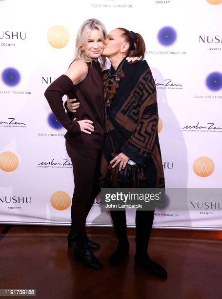 Dr Jennifer Ashton and Donna Karan attend The David Lynch Foundation's Women of Vision Benefit luncheon on December 03 2019 in New York City