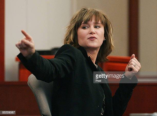 Dr Jennifer Skeem testifies at the Brian David Mitchell competency hearing in 3rd District Court of Judge Judith Atherton July 7 2005 in Salt Lake...